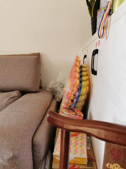 明德Meitoku 小脚印拼图地垫 PE泡沫垫 宝宝爬行垫 米+咖色泡沫地垫 客厅卧室环保拼接地垫30*30*1cm(9片装) 晒单图