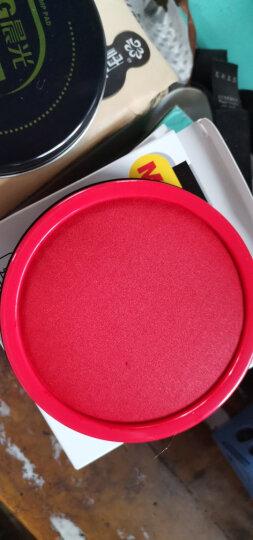 晨光(M&G)文具红色财务专用快干印台 85mm圆形透明快干印泥印台 单个装AYZ97519 晒单图
