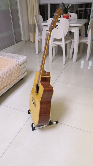 Flanger专业可折叠升降便携式乐谱架子吉他小提琴古筝管乐二胡琴谱架通用歌谱架 FL-09黑色 晒单图