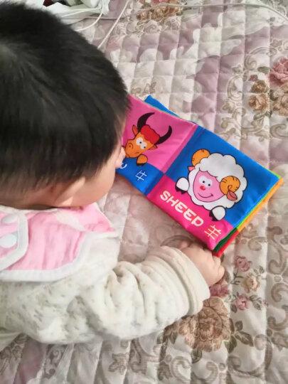 拉拉布书 宝宝布书婴儿玩具0-1岁婴幼儿早教儿童玩具益智玩具 视觉训练床围车护栏可爱动物A款六一儿童节礼物 晒单图