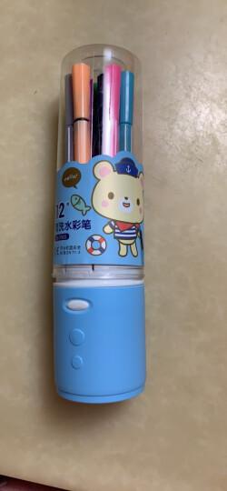得力(deli) 7065 绚丽多彩可洗水彩笔/绘画笔 12色/筒 包装颜色随机 晒单图