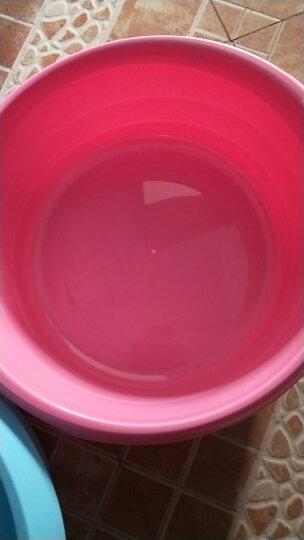 【特深洗衣盆】茶花塑料洗衣盆大号儿童洗浴盆加厚洗脚盆 中号蓝色 晒单图