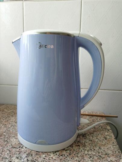 美的(Midea)电水壶热水壶电热水壶304不锈钢1.7L容量高温暖水壶烧水壶开水壶WHJ1705C 晒单图