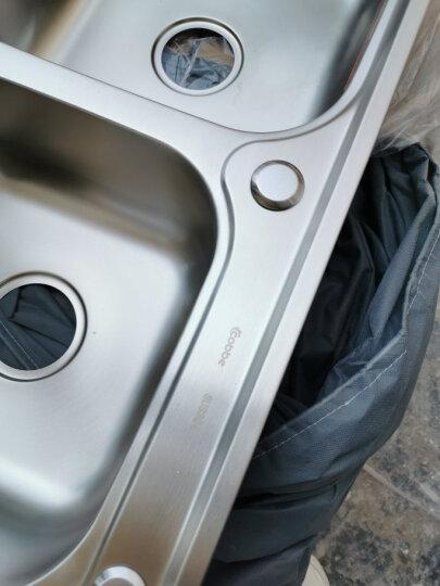 卡贝水槽双槽洗菜盆304不锈钢加厚厨房洗碗池洗菜池 升级槽78x43●¥598【送角阀】 晒单图