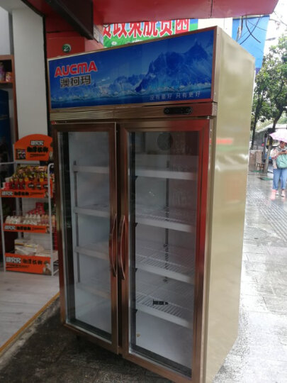 澳柯玛(AUCMA)商用展示柜冷藏立式保鲜柜冷藏柜啤酒饮料柜陈列柜玻璃门冷藏双门展示冰箱 晒单图
