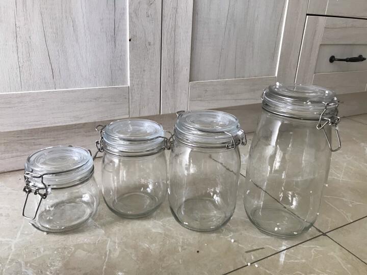宏达 玻璃密封罐 腌蜂蜜柠檬百香果玻璃瓶套装大号 加厚透明食品储物罐小号多功能泡菜坛子泡酒酵素奶粉罐 圆500+750+1000+1500ML-4件套 晒单图