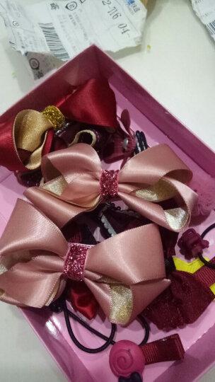 美丽公主(十八件套)发夹饰品韩国儿童发夹发饰女童头绳发绳公主宝宝发卡子小女孩头饰套装饰品 1#酒红18件套礼盒装 晒单图