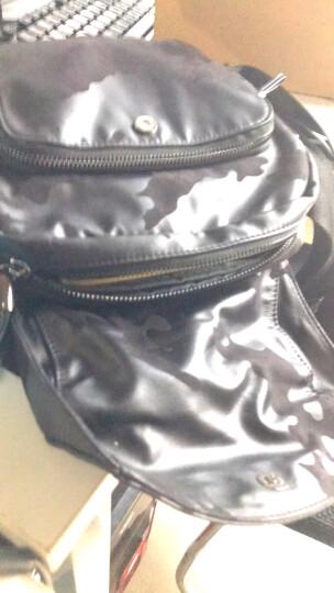 智纳(ZZINNA)男包单肩包休闲运动斜跨包潮流帆布包防泼水牛津布背包 黑色(小号) 晒单图