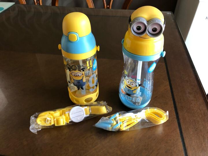 小黄人 儿童吸管杯夏季宝宝学饮水杯防摔防漏小孩学生水壶幼儿园喝水杯子 6613天空蓝 晒单图