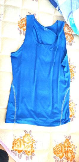 续点 弹力背心男夏季运动健身速干吸汗紧身修身跨栏男士背心打底衫圆领无袖汗衫吊带 蓝色 XL70KG左右 晒单图