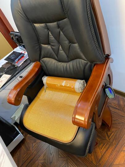 寳伽帝龍(BOGADION) 真皮可躺老板椅实木牛皮大班椅升降转椅按摩家用电脑椅办公椅子 黑色进口牛皮+搁脚+按摩 晒单图