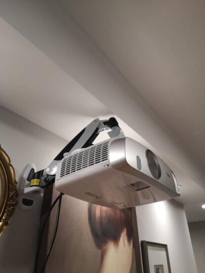 悠视 YS-PR03投影仪支架气压悬停伸缩挂架投影仪吊架投影机墙面壁挂支架万向旋转伸缩通用 银色加长爪*1 晒单图
