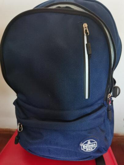 爱迪生(Edison)书包 超轻减负透气中学生背包男休闲运动防水大容量双肩包 L796 黑色 晒单图