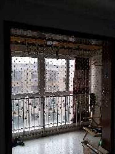 洛曼斯(LOMANSI) 水晶珠帘门帘隔断过道玄关客厅帘子卧室珠子挂帘风水帘装饰屏风帘子 60根雨淋_适合宽1.5-3米 晒单图