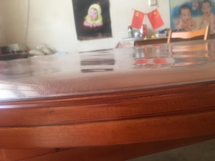 钟爱一生桌布防水桌垫餐桌布软玻璃透明茶几垫无味胶垫台布磨砂PVC塑料水晶板学生书桌垫防油圆桌布定制 无味磨砂2.0mm 60*120cm耐高温加厚防烫 晒单图