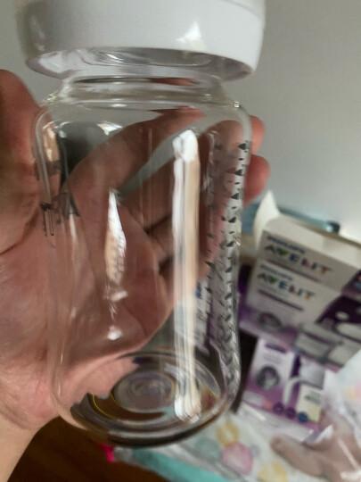 飞利浦新安怡 奶瓶 玻璃奶瓶 婴儿仿母乳硅橡胶奶嘴宽口径进口4oz 120ml+240ml套装SCD291/04 晒单图
