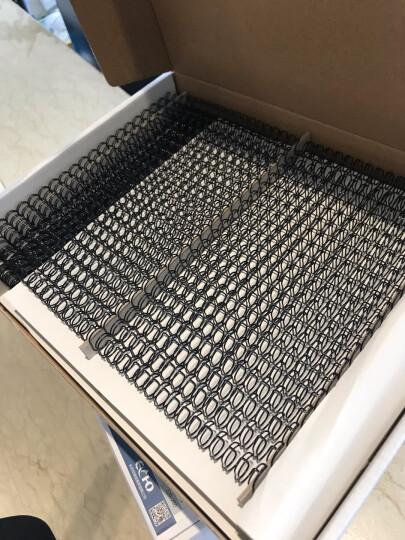 爱可(ECHO)装订铁圈双线圈3:1规格34孔包胶双线铁圈结实耐用 专业办公装订机耗材 银色 11.1mm/100支 晒单图