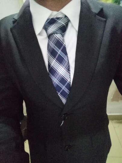 斐格欧文小西装女 秋季长袖职业装女装套装面试正装西服外套酒店商务银行工作服套裙 立领蓝色西服+6816蓝衬衫+半裙(三件套) XXL120-128斤左右 晒单图