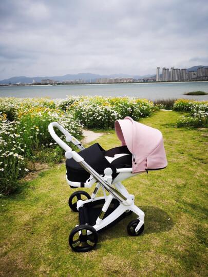 爱贝丽(IBelieve) 婴儿推车智能刹车婴儿车可坐可躺高景观大轮避震宝宝手推车双向推行新生儿童车 未来·极光绿-智能版(0-3岁) 晒单图