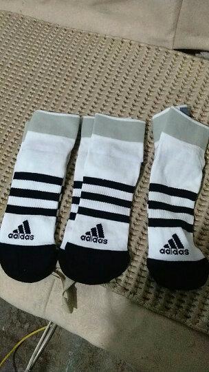 阿迪达斯adidas男女袜子运动休闲棉袜三双装条纹S码37-39码 晒单图