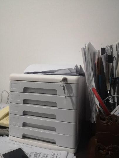 得力(deli)5层带锁手拉桌面文件柜 带索引标签抽屉资料收纳柜 办公用品 浅灰色9779 晒单图