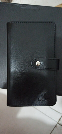 赖牌LAIPAI男女士卡包 108多卡位牛皮名片夹银行卡片包驾驶证套卡套 黑色(牛皮) 晒单图