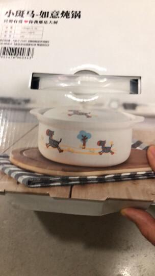 泥火匠 汤煲 陶瓷 小斑马如意炖锅 1500ml 釉中彩耐热砂锅 汤锅 晒单图