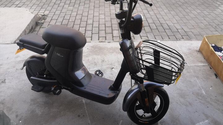 新日(Sunra)电动自行车新国标锂电池代步车成人轻便小型电瓶车脚踏男女单车脚踏 XC1 标准版/48V12AH锂电池/星空灰 晒单图