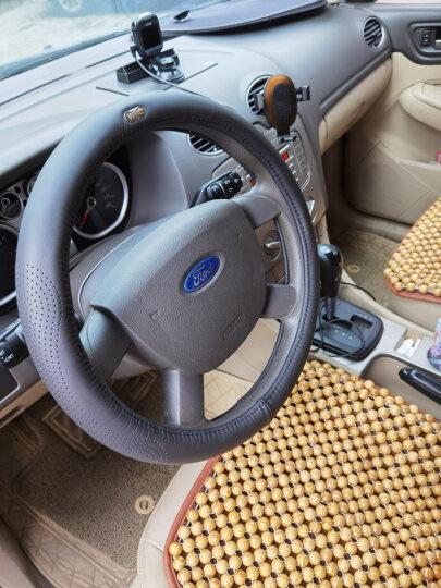 WRC 汽车方向盘套运动把套 整张牛皮一个接口 车用头层牛皮 透气吸汗防滑 四季通用 中号 棕咖色 晒单图