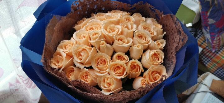 钟爱 鲜花速递33朵香槟玫瑰花红玫瑰花束生日礼物女生全国求婚北京上海广州武汉同城鲜花店配送 33香槟玫瑰-勇敢 晒单图