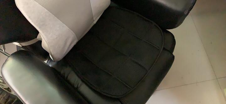 卡饰社(CarSetCity)汽车坐垫 竹炭方垫 汽车用品 四季通用座垫 通用型 单片黑色 晒单图