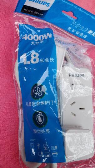 飞利浦(PHILIPS)新国标16A大功率插座 插线板/插排/排插/接线板/拖线板 空调/热水器 2孔位1.8米送10A插头 晒单图