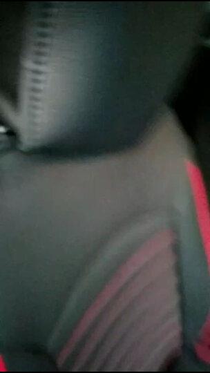 翰静 2021新款汽车坐垫全包围四季通用皮座垫五座小车免拆汽车座套适用于 冰丝黑红色 现代索纳塔ix35悦动名图朗动领动悦纳菲斯塔伊兰特 晒单图