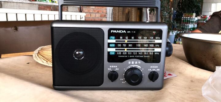 熊猫(PANDA)T-01老人迷你三波段半导体 全波段收音机 插卡锂电数码音响(银色) 晒单图