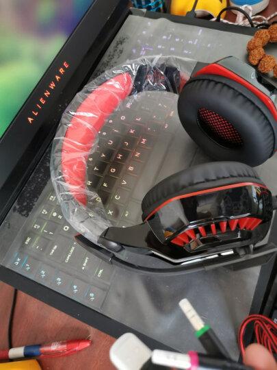 因卓(KOTION EACH)G2200黑蓝色 游戏耳麦7.1声道专业游戏带麦带震动USB内置声卡 炫光电竞耳机头戴式 晒单图