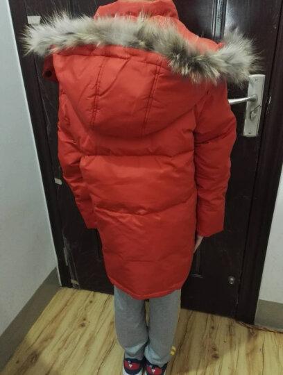 涵思儿男童羽绒服中长款儿童羽绒服冬款男童外套白鸭绒新款童装羽绒服中大童 1815橙色 120(适合身高110-120) 晒单图