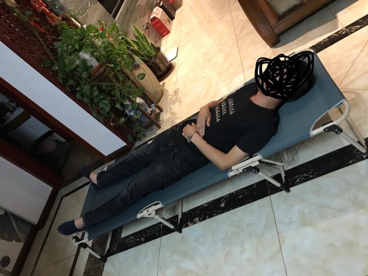 双鑫达 折叠床 躺椅 单人床 办公室午睡午休床 陪护床 加宽至68厘米 含棉垫 B-16 晒单图