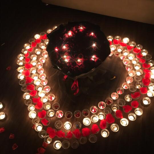 艾斯维娜 鲜花速递红玫瑰花束礼盒求婚表白送女友老婆生日礼物全国同城配送花店 99朵红玫瑰黑纱经典款 晒单图