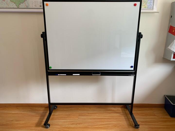 得力(deli)高端系列支架式白板120*90cmH型架可移动可翻转白板双面磁性家用教学办公会议白板黑板写字板7882 晒单图