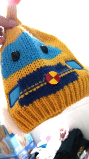 添丝(TIANSI)儿童帽子围脖 宝宝帽子冬季加厚保暖婴儿帽子儿童手套小孩围巾男女童配饰 汽车姜黄+围巾+手套/三件 4个月-3岁 晒单图
