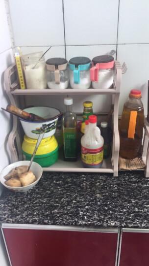 邻美 厨房置物架收纳架 塑料不锈钢管调料架调味架厨房用品厨具 升级款卡其带刀架+筷子筒+砧板架 晒单图