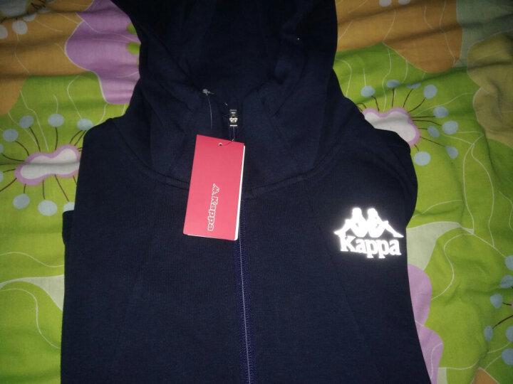 Kappa卡帕 男款运动卫衣休闲长袖开衫帽衫外套|K0752MK05 深海蓝-888 XL 晒单图