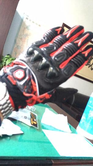 赛羽SCOYCO摩托车手套夏季透气骑行机车手套骑士防摔手套羊皮赛车摩旅骑行装备 MX49(红色)360度透气 XL 晒单图