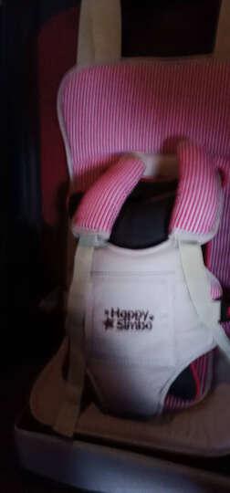 泽幼屋特价isofix接口装储物可折叠便携式车载宝宝幼儿增高垫坐椅简易婴儿童汽车安全座椅0-4-6岁 红 带增高  适合体重18-38斤   申通快递 晒单图