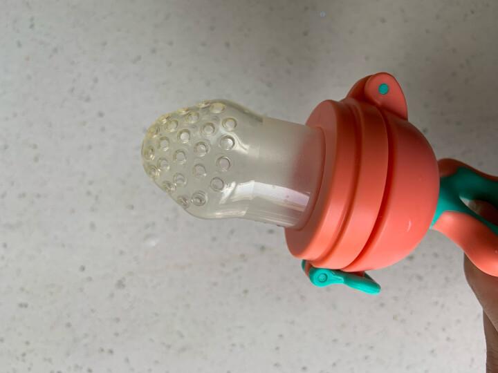 小白熊 宝宝咬咬果蔬乐 安抚咬咬袋 婴儿辅食器 硅胶牙胶 磨牙棒 粉色 09090 晒单图