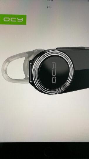 QCY Q8 单耳版 商务 蓝牙耳机 蓝牙4.1 耳机/耳麦 支持双声道 耳挂式 通用 无线耳机 黑色 晒单图