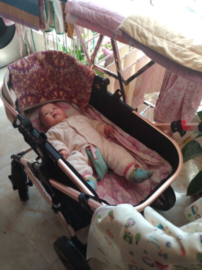 TEKNUM 英国婴儿推车高景观童车 宝宝可坐可躺双向避震折叠BB轻便手推车 卡其色3D立体减震顶配版【次日达】 晒单图