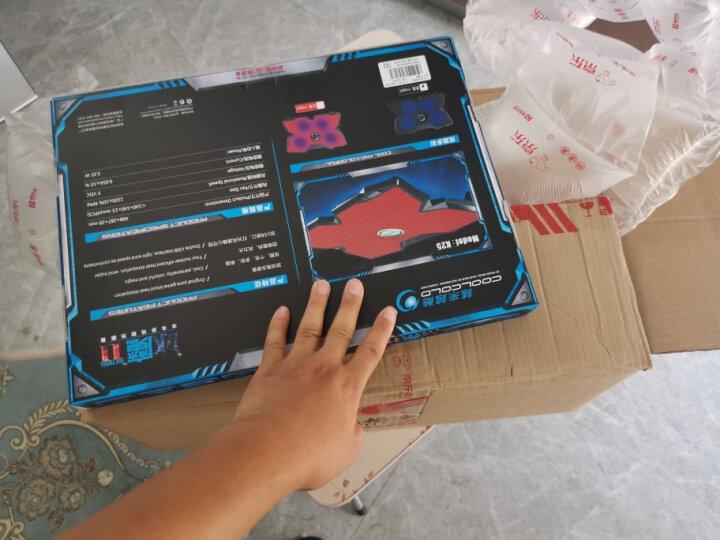 【次日达】笔记本散热器游戏本底座架手提电脑散热风扇静音非水冷排风扇17支架14板15.6垫17.3寸 橙色 晒单图