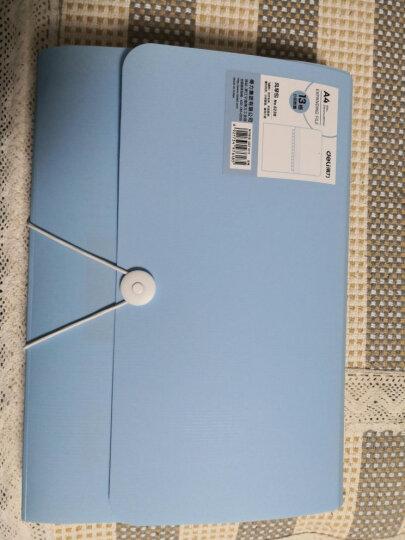 得力(deli)13格扣绳设计炫彩风琴包文件包 A4事务包学生试卷包 蓝5238 晒单图