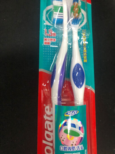 高露洁(Colgate)牙刷适齿炭 软毛牙刷3支(炫彩刷柄软毛深洁) 晒单图